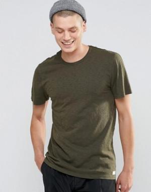HUF Меланжевая футболка. Цвет: зеленый