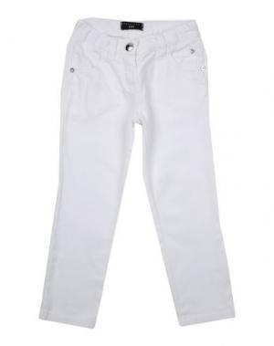 Джинсовые брюки TWIN-SET GIRL. Цвет: белый