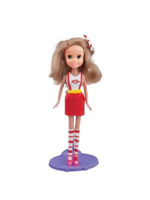 Набор для творчества с пластилином Fashion Dough и куклой Блондинка в красной юбке Toy Target. Цвет: красный