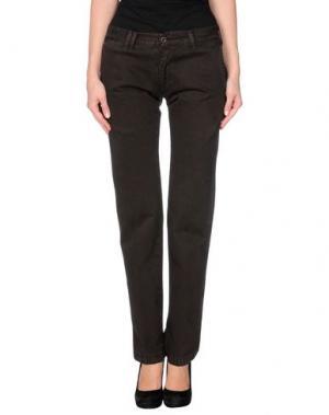 Повседневные брюки SAVINI. Цвет: темно-коричневый