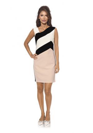 Платье-футляр Ashley Brooke. Цвет: черный/розовый