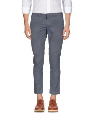 Повседневные брюки MASSIMO BRUNELLI. Цвет: грифельно-синий