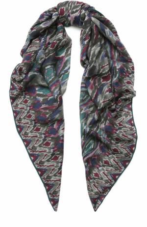 Кашемировая шаль Loro Piana. Цвет: темно-серый