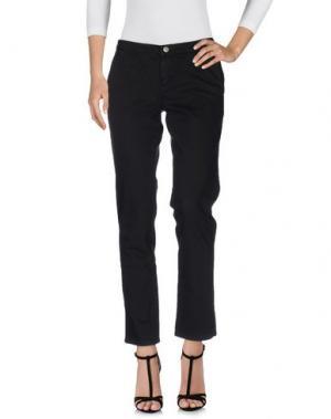Джинсовые брюки PAOLA FRANI. Цвет: черный