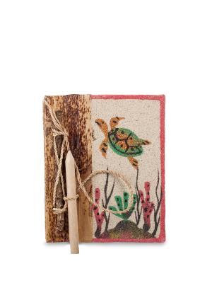 Блокнот с карандашом На дне океана мал. (о.Бали) Decor & gift. Цвет: бежевый
