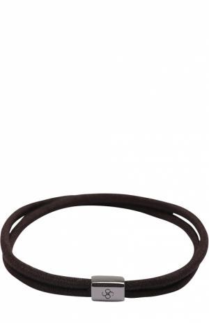 Набор резинок для волос Colette Malouf. Цвет: темно-коричневый