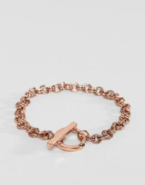 Icon Brand Браслет-цепочка цвета розового золота. Цвет: золотой