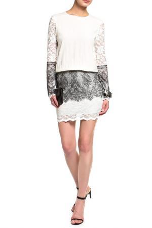 Платье-туника Loyd Ford. Цвет: белый, черный