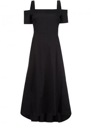 Приталенное платье с открытыми плечами A.L.C.. Цвет: чёрный