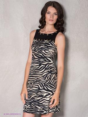 Платье Coccapani. Цвет: черный, молочный