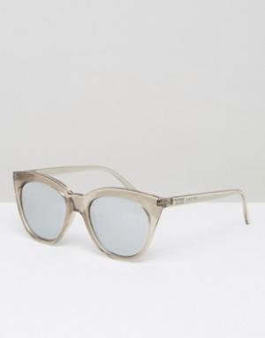 Le Specs Серебристые зеркальные солнцезащитные очки Magin. Цвет: прозрачный