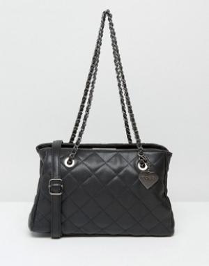 Marc B Стеганая сумка на плечо Kate. Цвет: черный
