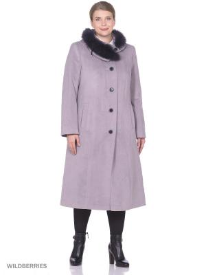 Пальто Фарт Фаворита. Цвет: серый