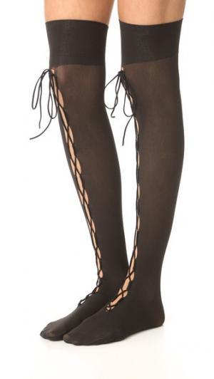 Колготки с высокой бедра со шнуровкой Wolford