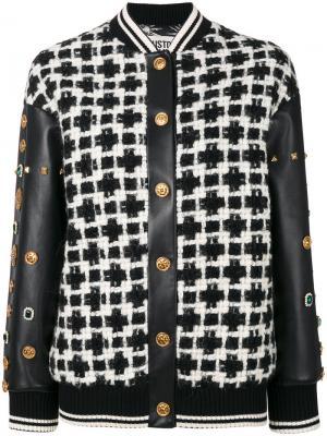 Куртка-бомбер с заклепками на рукавах Fausto Puglisi. Цвет: чёрный