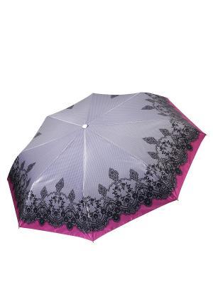 Зонт Fabretti. Цвет: серый,фуксия