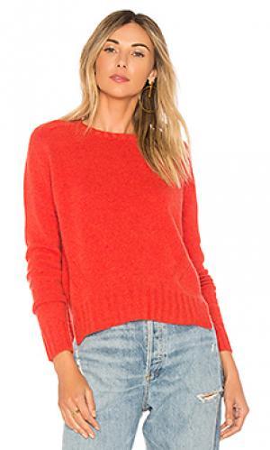 Пуловер с длинным рукавом и круглым вырзезом full fashioned Autumn Cashmere. Цвет: тёмно-оранжевый