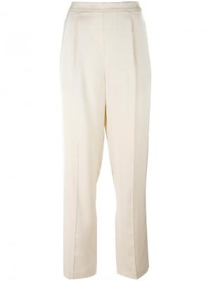 Плиссированные брюки прямого кроя Vince. Цвет: телесный