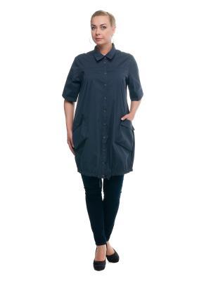 Рубашка OLSI. Цвет: темно-синий