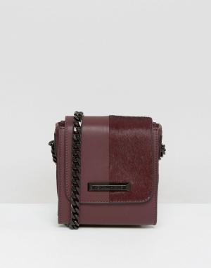 Kendall + Kylie Кожаная сумка через плечо Violet. Цвет: красный