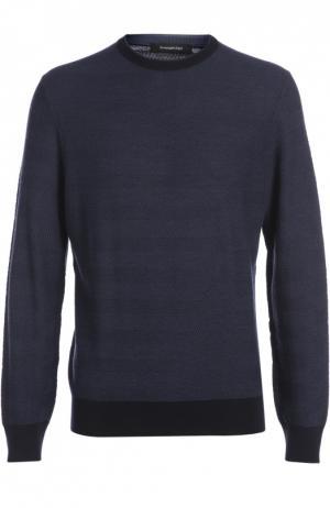 Вязаный пуловер Ermenegildo Zegna. Цвет: синий