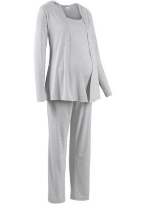 Мода для беременных: спортивные костюм из куртки, брюк и топа (3 изд.) (светло-серый меланж) bonprix. Цвет: светло-серый меланж