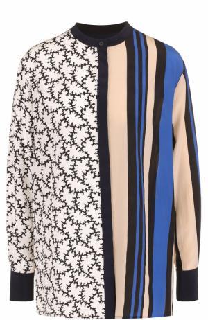 Шелковая блуза свободного кроя с принтом Diane Von Furstenberg. Цвет: разноцветный