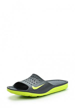Сланцы Nike. Цвет: серый