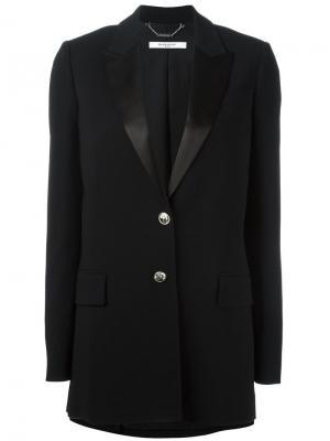 Удлиненный пиджак с заостренными лацканами Givenchy. Цвет: чёрный