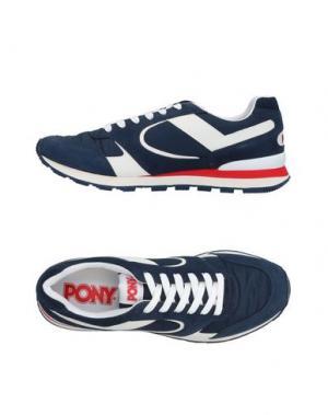 Низкие кеды и кроссовки PONY. Цвет: темно-синий