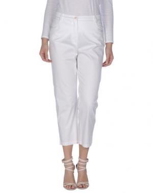 Повседневные брюки MARTINA ROVERSI. Цвет: белый