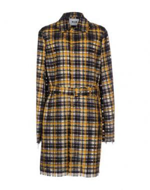 Пальто MSGM. Цвет: желтый