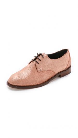 Замшевые ботинки на шнурках Jimmy MEANDHER. Цвет: потрепанное розовое золото