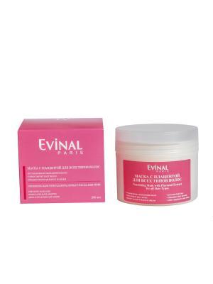 Питательная маска с экстрактом плаценты для всех типов волос EVINAL. Цвет: молочный