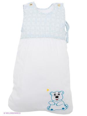 Спальный мешок Умка RETAGGIO. Цвет: белый, светло-голубой