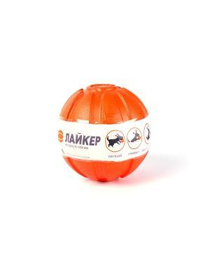 Мячик Лайкер 7 см LIKER. Цвет: оранжевый