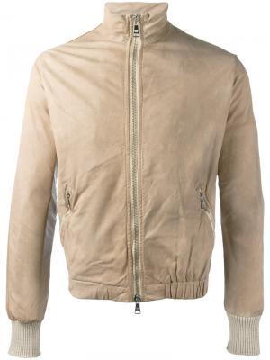 Куртка на молнии Giorgio Brato. Цвет: телесный