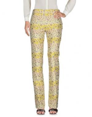 Повседневные брюки GIAMBA. Цвет: желтый