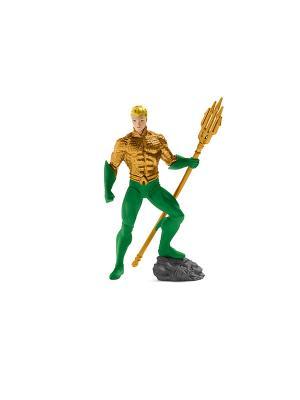 Герой комиксов, Аквамэн  (прикреплён к опорной подставке) SCHLEICH. Цвет: зеленый, золотистый
