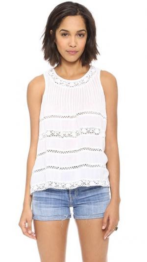 Кружевная блуза без рукавов Love Sam. Цвет: белый