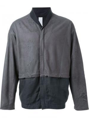 Куртка-бомбер Isabel Benenato. Цвет: серый