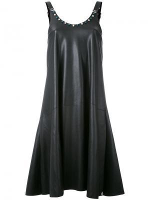 Pleat shift dress Urbancode. Цвет: чёрный