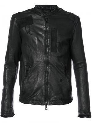 Куртка с нашивками Giorgio Brato. Цвет: чёрный