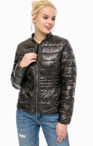 Куртка с камуфляжным принтом MORE &. Цвет: коричневый
