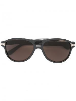 Солнцезащитные очки Santos de Cartier. Цвет: серый