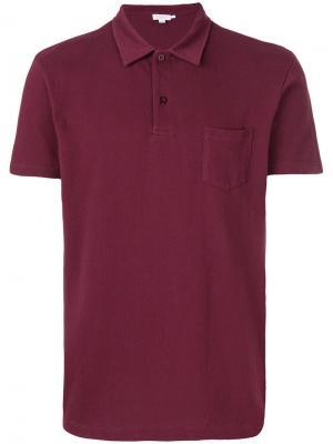 Рубашка-поло Riviera Sunspel. Цвет: красный
