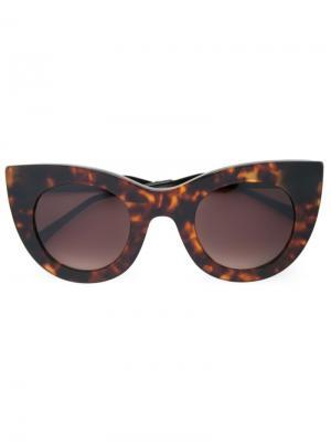 Солнцезащитные очки Cheeky Thierry Lasry. Цвет: коричневый