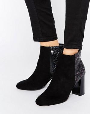 Head Over Heels Ботильоны с блестками на зеркальном каблуке By Dune Od. Цвет: черный