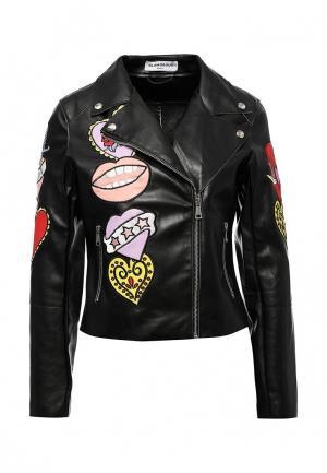 Куртка кожаная Glamorous. Цвет: черный