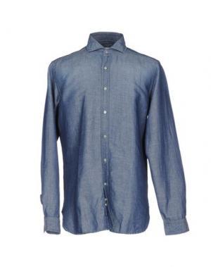 Джинсовая рубашка GUGLIELMINOTTI. Цвет: синий